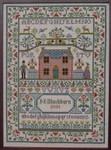 Moira Blackburn Samplers MBCCS Country Cottage Sampler Stitch Count: 149 x 209
