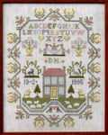 Moira Blackburn Samplers MBCHS Country House Sampler Stitch Count: 133 x 169