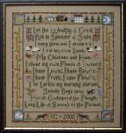 Moira Blackburn Samplers MBFP Farmer's Prayer Stitch Count: 170 x 181