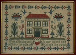 Moira Blackburn Samplers MBRRHS Red Roof House Sampler Stitch Count: 160 x 114