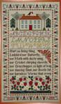 Moira Blackburn Samplers MBSHS Strawberry House Sampler Stitch Count: 147 x 253
