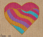 AW-20 Swirl Heart Danji Designs ANN WINN 3 ½ x 3