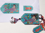 AW-42 Millie the Mermaid Scissor Case With stitch guide  2 ½ x 4 & 1 ¼ x 2 ¼ 18  Mesh  Danji Designs ANN WINN