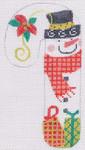 CH-26 Snowman Poinsettia Candy Cane 2 ¾ x 5 ¼ 18 Mesh Danji Designs CH Designs