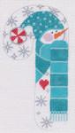 CH-24 Snowman Peppermint Candy Cane 2 ¾ x 5 ¼ 18 Mesh Danji Designs CH Designs