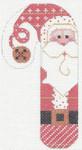 CH-23 Santa Red/White Candy Cane 2 ¾ x 5 ¼ 18 Mesh Danji Designs CH Designs