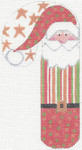 CH-20 Santa Gold Stars Candy Cane 2 ¾ x 5 ¼ 18 Mesh Danji Designs CH Designs