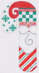 CH-19 Santa Check and Striped Candy Cane stitch guide available 2 ¼ x 4 ½ 18 Mesh Danji Designs CH Designs