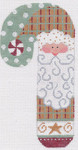 CH-11 Peppermint Santa Candy Cane stitch guide Available 3 ½ x 6 ½ 18 Mesh Danji Designs CH Designs