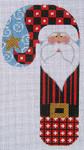CH-09 Striped Santa Candy Cane 3 ½ x 6 ½ 18 Mesh Danji Designs CH Designs