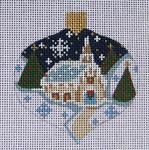 CH-07 Winter Church Ornament 3 x 3 ¼ 18  Mesh Danji Designs CH Designs