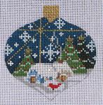 CH-05 Winter Scene Ornament 3 x 3 ¼ 18  Mesh Danji Designs CH Designs