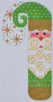 CH-104 Rustic Santa Candy Cane  2 ¾ x 5 ¼ 18 Mesh Danji Designs CH Designs