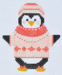 CH-87 Penguin Girl 3 (stitch guide available) 3 x 3 ½ 18 Mesh Danji Designs CH Designs
