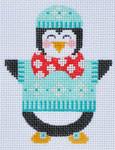 CH-86 Penguin Boy 3 stitch guide available 3 x 3 ½ 18 Mesh Danji Designs CH Designs