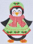 CH-85 Penguin Girl 2 With stitch guide  3 x 3 ½ 18 Mesh Danji Designs CH Designs