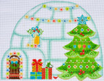 CH-81 Christmas Igloo With stitch guide 8 x 9 ½ 18 Mesh Danji Designs CH Designs