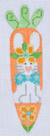 CH-66 Bunny w/ Bowtie Carrot With  stitch guide 1 ¼ x 5 ¼ 18 Mesh Danji Designs CH Designs
