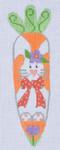 CH-65 Bunny w/ Flower Carrot 1 ¼ x 5 ¼ 18 Mesh Danji Designs CH Designs