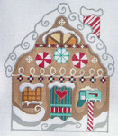 CH-50 Gingerbread House stitch guide available 5 ½ x 7 18 Mesh Danji Designs CH Designs