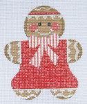 CH-49 Gingerbread Girl 3 stitch guide available 3 x 3 ¼ 18 Mesh Danji Designs CH Designs