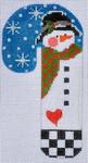 CH-106 Black Hat Heart Snowman Candy Cane 2 ¾ x 5 ¼ 18 Mesh Danji Designs CH Designs