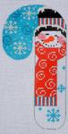 CH-109 Striped Hat Snowman Candy Cane 2 ¾ x 5 ¼ 18Mesh Danji Designs CH Designs