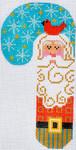 CH-111 Cardinal Santa Candy Cane 2 ¾ x 5 ¼ 18 Mesh Danji Designs CH Designs