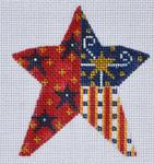 CH-113 Patriotic Star 3 ¼ x 3 ½ 18 Mesh Danji Designs CH Designs