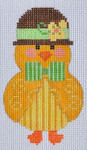 CH-120 Boy Chick stitch guide available 2 ¼ x 3 ¾ 18 Mesh Danji Designs CH Designs