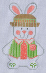 CH-118 Boy Bunny 2 stitch guide available 2 ½ x 4 18 Mesh Danji Designs CH Designs