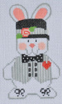 CH-116 Boy Bunny 1(stitch guide available 2 ½ x 4 18 Mesh Danji Designs CH Designs