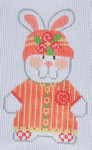 CH-119 Girl Bunny 2 With stitch guide 2 ½ x 4 18 Mesh Danji Designs CH Designs