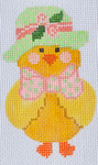 CH-121 Girl Chick With stitch guide 2 ¼ x 3 ¾ 18  Mesh Danji Designs CH Designs
