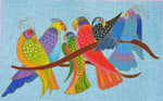 LB-117 Songbirds 10 x 16 18 Mesh Danji Designs LAUREL BURCH