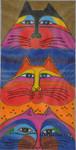 LB-116 Fat Cats 6 x 12 13 Mesh Danji Designs LAUREL BURCH