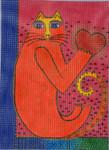 LB-115 Heart Cat 8 x 10 ½ 13 Mesh Danji Designs LAUREL BURCH