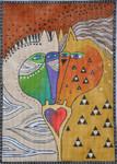 LB-114 Love Horses 10 x 14 13 Mesh Danji Designs LAUREL BURCH