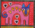 LB-112 Heart Dog 7 x 5 ½ 13  Mesh Danji Designs LAUREL BURCH