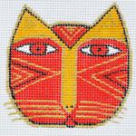 LB-110 Cat Face 2 ¾ x 2 ¾ 18 Mesh Danji Designs LAUREL BURCH