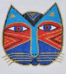 LB-109 Cat Face 2 ¾ x 2 ¾ 18 Mesh Danji Designs LAUREL BURCH