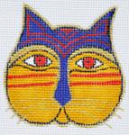 LB-108 Cat Face 2 ¾ x 2 ¾ 18 Mesh Danji Designs LAUREL BURCH