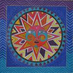 LB-105 Celestial Sun 14 x 14 18 Mesh Danji Designs LAUREL BURCH