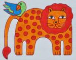 LB-100 Lion 6 x 4 ½ 18 Mesh Danji Designs LAUREL BURCH