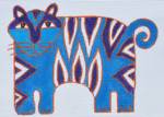 LB-99 Blue Tiger  6 x 4 ½ 18 Mesh Danji Designs LAUREL BURCH