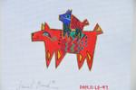 LB-97 Perros Rojos (Red Dog) 6 x 5 18 Mesh Danji Designs LAUREL BURCH