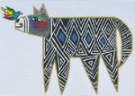LB-96 Zig Zag Dog 6 ½ x 4 ¼ 18 Mesh Danji Designs LAUREL BURCH