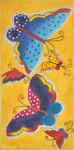 LB-95 Yellow Butterflies 8 x 16 13 Mesh Danji Designs LAUREL BURCH