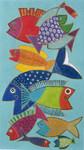 LB-90 Pescado 9 x 16 13 Mesh Danji Designs LAUREL BURCH  Fish