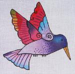 LB-83 Purple Hummingbird 5 x 5 18 Mesh Danji Designs LAUREL BURCH